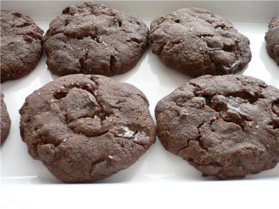 Dense, Rich and Luscious Chocolate Chunk and Sea Salt Cookies
