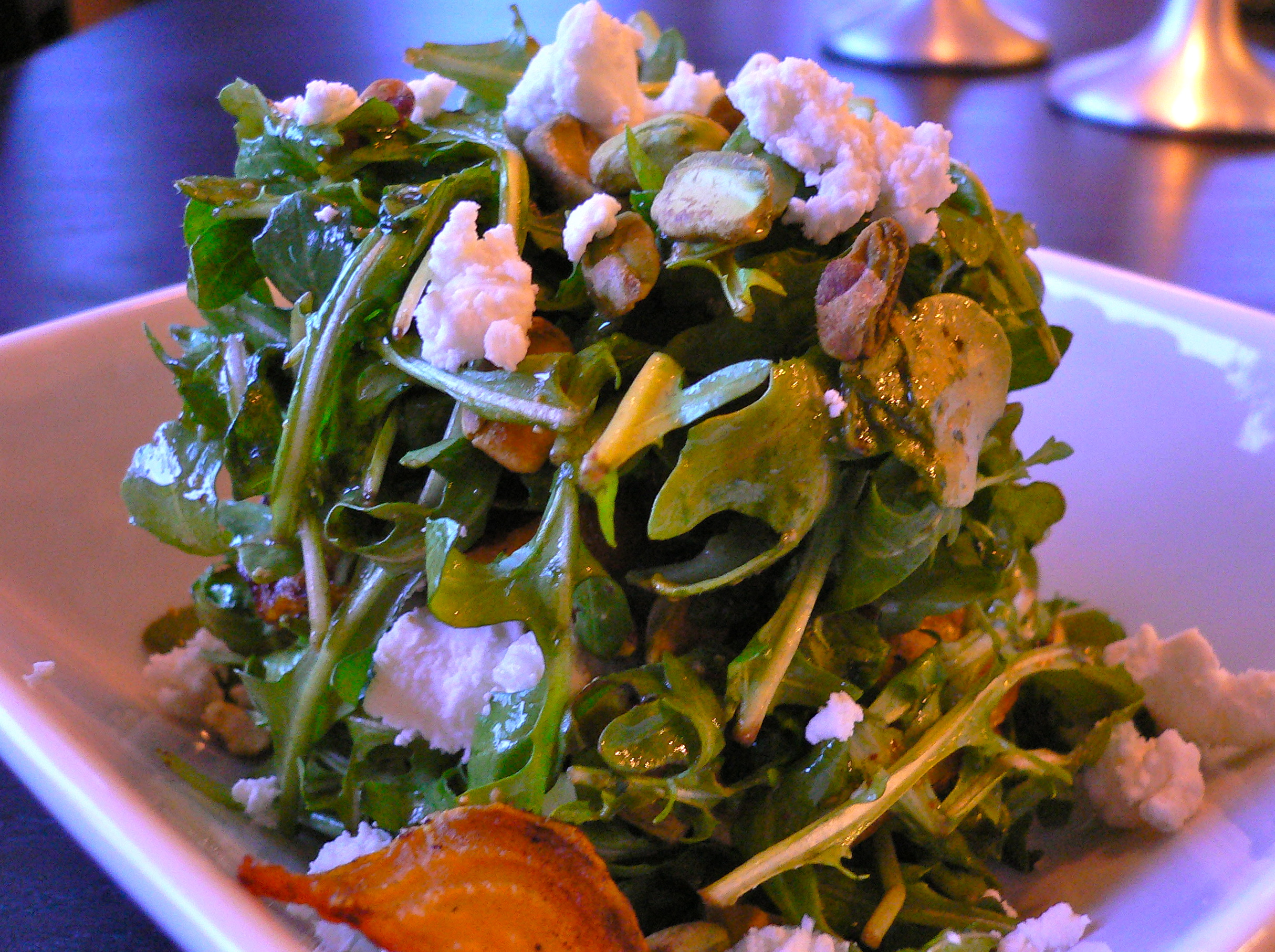 Arugula Salad with Roasted Beets Goat Cheese and Pistachios | What we ...