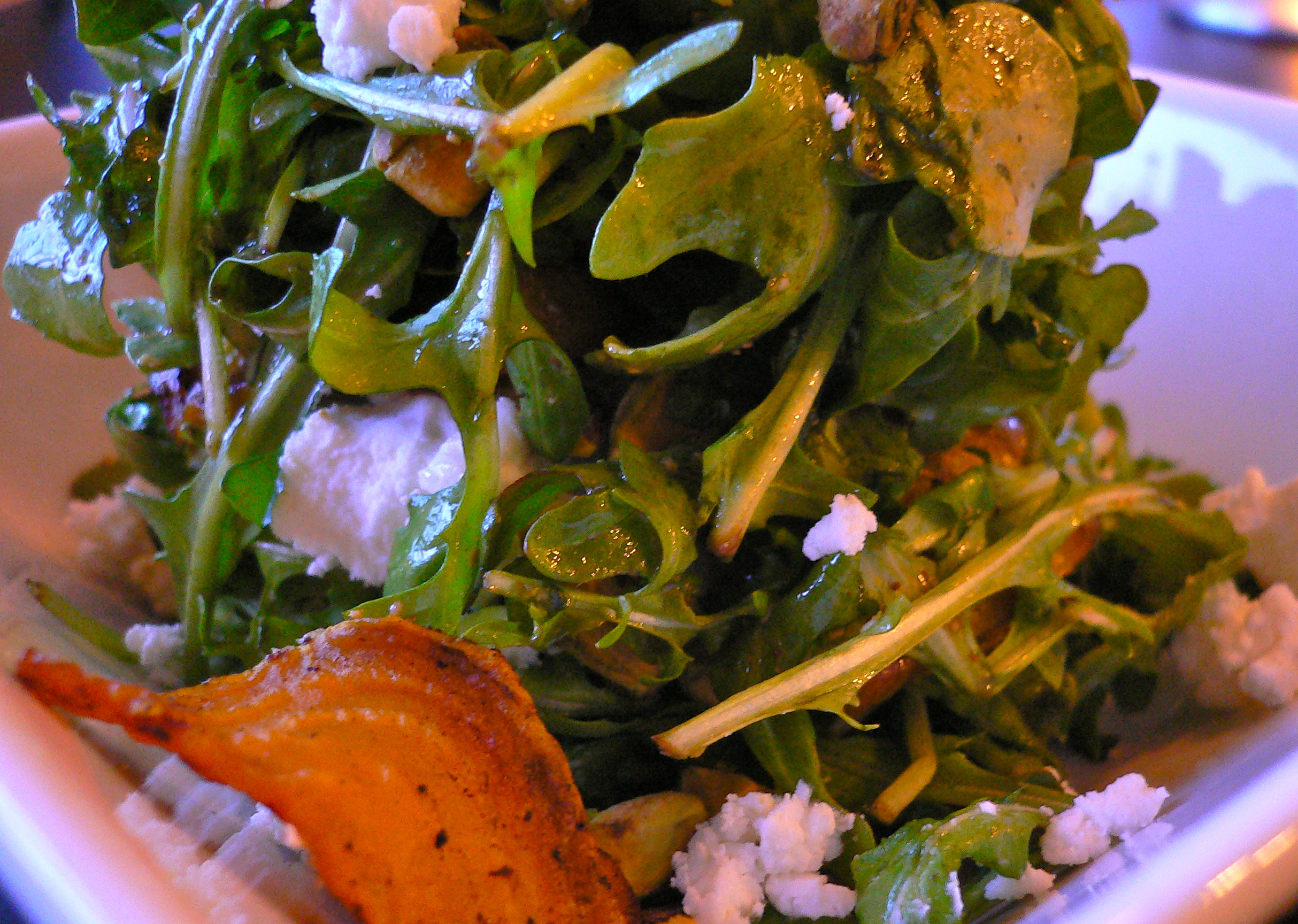 Arugula Salad with Roasted Beets Goat Cheese and Pistachios   What we ...
